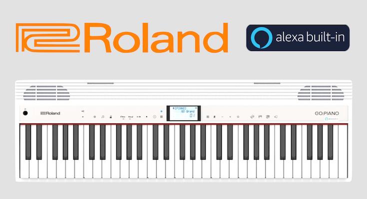 Clavier Roland Go Piano intègre Alexa