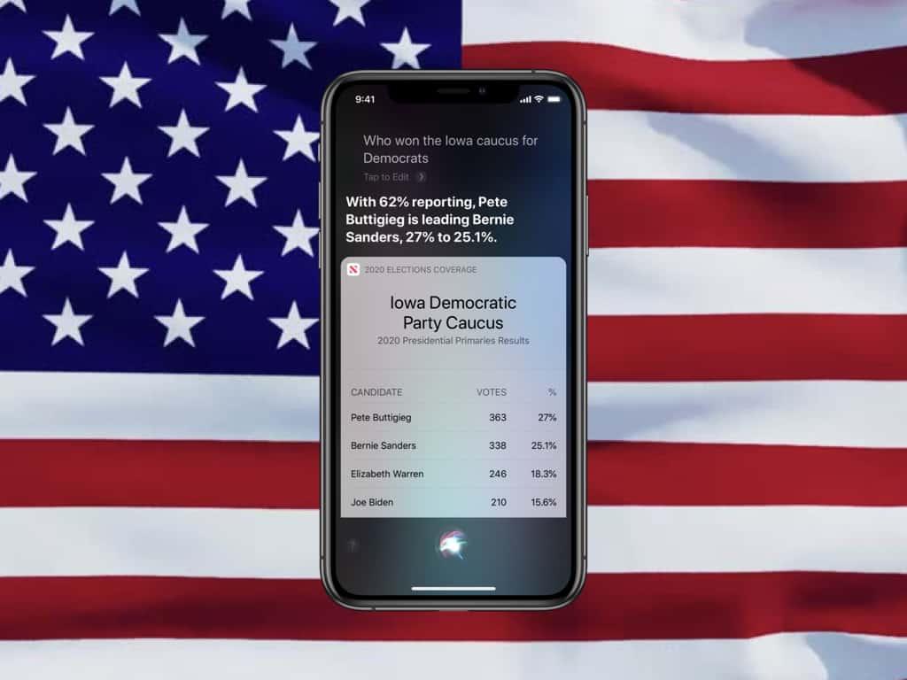 L'assistant Siri répond aux questions sur les élections américaines