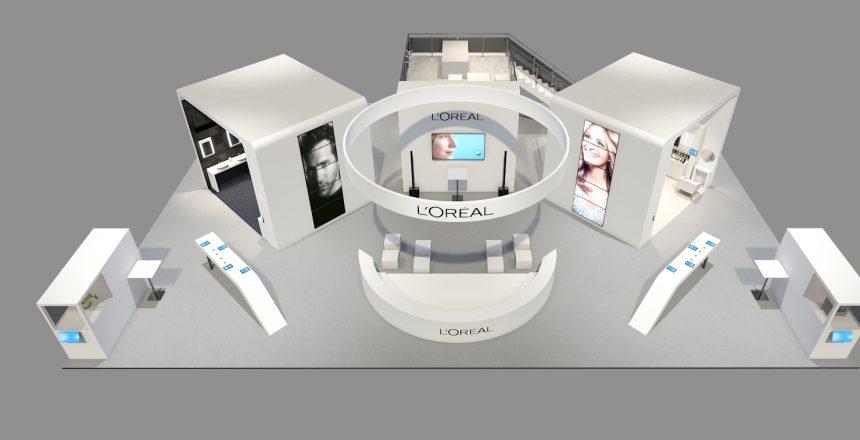 Stand l'Oréal  VivaTechnology Paris 2018 avec ses dernières innovations Beauty Tech