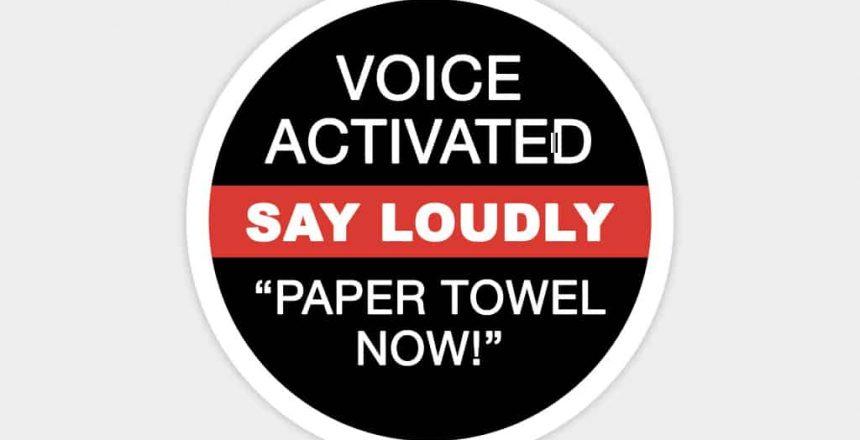 distributeurs de serviettes à commande vocale