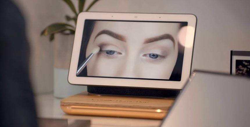 Sephora commande vocale turoriaux beauté sur Google Home Hub